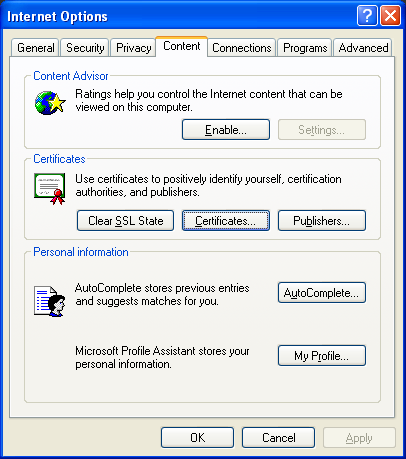 Set up GoDaddy Root Certificate on Windows XP - Knowledge